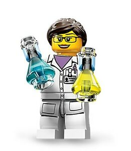 Lego collectible minifig series 11 Girl / Lady Scientist suit city set