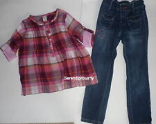 EEUC Old Navy 2010 Pink Plaid Top & Love Jeans 5R XS