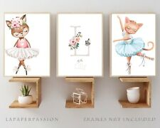 Ballet Girls Nursery Wall Prints, Girls nursery wall prints,Ballet Decor,