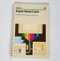 Vintage Apple II Super Serial Card Installation Operating Manual 1981
