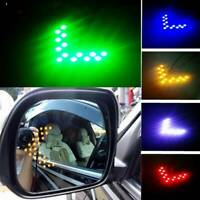 2x 14SMD LED Arrow Panel For Car Rear View Mirror Indicator Turn Signal Lights J