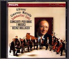 Heinz Holliger: Albinoni Cimarosa Lotti Marcello Sammartini Oboe Concerto CD'87