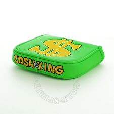 19th Hole Custom Shop Cash is King High-Moi Mallet Putter Head Cover Heel Shaft