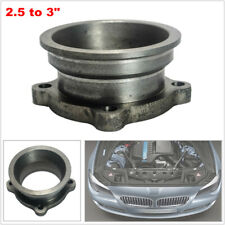 """2.5 to 3"""" StainlessSteel Car V-Band Turbo Downpipe 4 Bolt Exhaust Flange Adapter"""