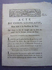 1792/ Qui charge le Roi de repousser par les armes tous les ennemis de l'état