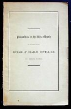 Proceedings in the West Church on Decease of Charles Lowell 1st ed. 1861 VG
