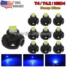 10x Ultra Blue T4 T4.2 Neo Wedge 1-SMD LED Cluster Instrument Dash Climate Bulbs