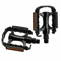 Lumintrail Bike Pedals 9/16-Inch Aluminum Alloy Metal Mountain Road Cycling