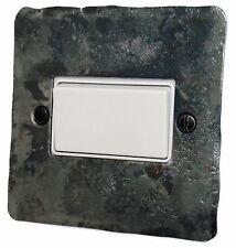 G&H FR69W Flat Plate Rustic Silver 1 Gang Triple Pole 10A Fan Isolator Switch