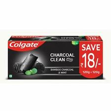 Colgate Charcoal Clean Toothpaste Bamboo Charcoal & Mint Black Gel 240 grams