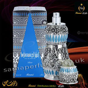 INSHERAH Silver 30ml EDP Exclusive Exotic-RASASI Authorised Distributors UK