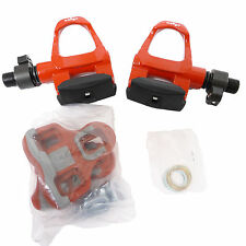 mr-ride Wellgo Road Bike Pedals Clipless with Cleat 326g/pr - Red -QRD-R096B
