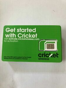 LOT of 20 New Cricket 4G LTE 5G  Sim Card Good For Activation SKU: SGMN4025