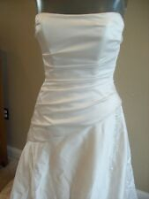 Maggie Sottero Ivory Satin Strapless Bridal Dress Wedding Gown Size 6 @ cLOSeT