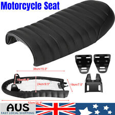 Motorcycle Vintage Type Racer Refit Seat Flat Saddle PU Leather for Honda Cb200