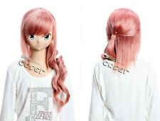 W-141 Final Fantasy serah cosplay perruque wig Hitzefest CURL rose 65cm