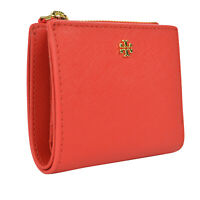 NWT Tory Burch Emerson Mini Wallet in Poppy Orange