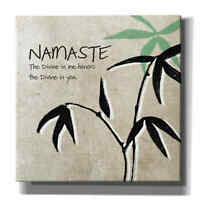 Epic Graffiti 'Namaste' by Linda Woods, Giclee Canvas Wall Art