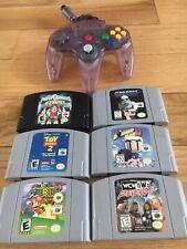 Nintendo 64 N64 Lot Clear Controller Super Mario 64 Bomberman 64 Rare Star Wars