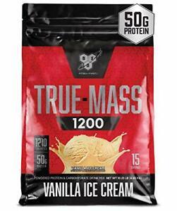 BSN TRUE-MASS Weight Gainer Muscle Mass Gainer Protein Powder Vanilla Ice Cre...