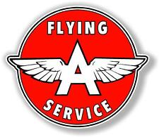 """(FLYI-2) 12"""" FLYING A SERVICE GASOLINE OIL VINYL DECAL FOR MAKING SIGNS"""