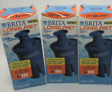 3 pack BRITA LONGLAST Pitcher Water Filters **NEW SEALED**