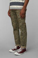 LEVIS JEANS SLIM STRAIGHT CARGO CAMOUFLAGE TROUSERS CAMO ARMY MILITARY GREEN 31