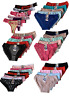 LOT NICE !!5 Women Bikini Panties Brief Floral Lace Cotton Underwear Size M L XL