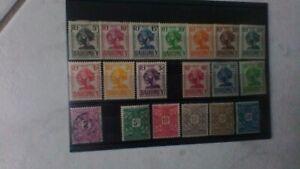timbres colonies dahomey taxes n°9à13 et 19à31n* et 17 obl cote 21,50