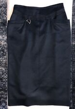 """Gucci Italy 100% Cashmere And Leather Pencil Skirt Sz 42/27"""""""
