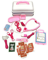 MEDICAL KIT Toy Gift Set Role Play Pretend  Doctor Nurse Carry Box Kit Girl/Boy