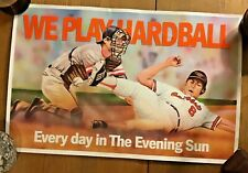 Baltimore Orioles Evening Sun Mailbox Ad 11x17 CAL RIPKEN JR. We Play Hardball
