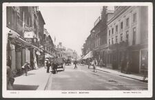 More details for bedford. busy in the high street. 1910 bedford postmark real photo postcard