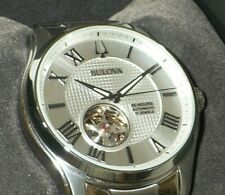 Bulova Men's 96A207 Automatic Wilton Stainless Steel Watch w/ Aperture