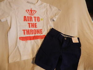 NWT 5 5T 6 5-6 CRAZY 8 by GYMBOREE SKATER TUNES TOP & SHORTS OUTFIT SUMMER