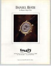 "Daniel Roth ""La Montre Objet d'Art"" Watch - Embassy Palm Beach 1993 Print Ad"
