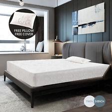 "10"" inch Memory Foam Bed Mattress Cool & Gel Medium Firm w/Free Pillow Twin Size"