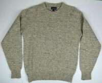 Vintage Lands End Wool Crewneck Pullover Sweater M/L 80s Kurt Cobain Grunge USA