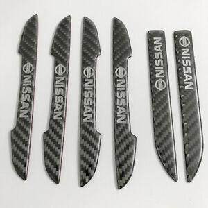 for Nissan car logoCarbon fiber ultra-thin car door edge guard ,rearviewStickers
