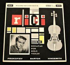 RUGGIERO RICCI Solo Recital UK Decca ED1 SXL 2240 WBg 1960 *MINT-* LP Superb!