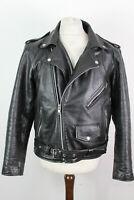 SPADA Black Leather Motorbike Jacket size 42