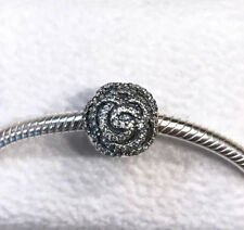Pandora Shimmering Rose, Clip Clear CZ Charm #791529CZ + Gift Packaging + Pouch