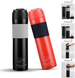 i Cafilas French Press Travel Mug 350ml Portable Coffee Maker Drink Water Bottle