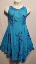 Women Clothing Sundress Summer Beach Sun Dress Turquoise Blue Free Size