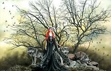 Red Haired Witch 1000 Pc Jigsaw Puzzle Nene Thomas Sunsout goddess wolves black