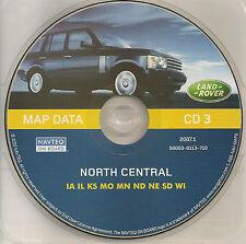 01 02 03 2004 LAND ROVER NAVIGATION CD NORTH CENTRAL IA IL KS MO MN ND NE SD WI