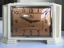 "BEAUTIFUL BIG ART DECO ALARM CLOCK ""INSA"" YUGOSLAVIA"