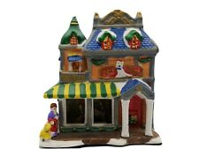 """Pet Shop Christmas House 7"""" Building Lighted Christmas Village Holiday"""