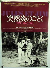 ~ Francois Truffaut Jules and Jim ORIGINAL Japanese Movie Poster Moreau R1985