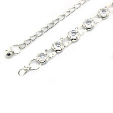 Silver Diamanté/Diamond Ladies Waist Chain/Charm Belt - One Size Fits All - 645